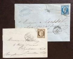 FRANCIA  1863/76 - UNA BUSTINA ED UNA LETTERA COMA DA FOTO - Storia Postale