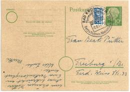 Deutschland Ganzsache 1954 Heuss Mi P 19 P19 Sonderstempel Bad Krozingen Thermal-Quelle 2.8.54 - [7] Federal Republic