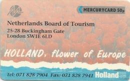 UK (Mercury) - Netherlands Board Of Tourism, 20MERA-MER172, 4.171ex, Used - Reino Unido