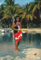 CPSM  TAHITI  JEUNE FILLE DES TOUAMOTU - Tahiti