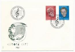 SUISSE - 2 Cartes Maximum + 1 Enveloppe FDC - Europa 1985 - MUSICIENS Ernest Ansermet / Frank Martin - Europa-CEPT