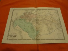 Carte Géographique Ansart - Carte Comparative Du Monde Connu Des Anciens  - Format 41 X 28 Cm - Geographical Maps
