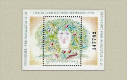 Hungary 1988. Sozfilex With Number Sheet MNH (**) Michel: Block 196A / 6.50 EUR - Ungarn