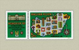 Hungary 1982. Agrofila Exhibition Segmental Stamp MNH (**) Michel: 3575 / 1.50 EUR - Ungebraucht