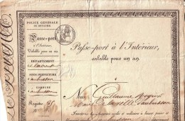 CREUSE - AUBUSSON - PASSEPORT - PASSE PORT DE MR PÏERRE LURON , MACON - SIGNE GUILLAUME ROGIER , MAIRE D'AUBUSSON - 1835 - Documents Historiques