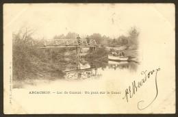 ARCACHON Lac De CAZAUX Un Pont Sur Le Canal (JL) Gironde (33) - France