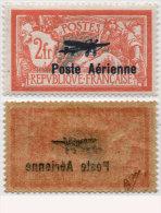 Yvert Poste Aérienne 1 - 2 F Orange - Neuf Avec Trace De Charnière  - Signé Calves - 1927-1959 Neufs