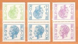 COB  1700a + 1701e + 1702f  (MNH)  (Lot 338) - Belgique