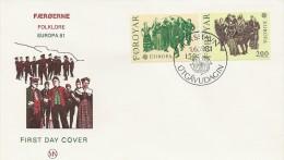 Europe - Cept    1981    Fdc  Folklore   Faroe Islands    H-269 - Europa-CEPT