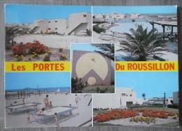 """PORT BARCARES  (66). MULTIVUES SUR LE VILLAGE DE VACANCES : """"LES PORTES DU ROUSSILLON """". ANNEES 1970 - Port Barcares"""