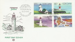 Lighthouses  Fdc. Faroe Islands.   H-283 - Fari