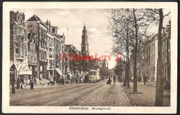 AMSTERDAM Rozengracht 1923 Veel Volk Op Straat Tram - Amsterdam