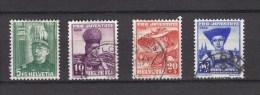 1939   PJ   N°89 à 92  OBLITERES   CATALOGUE ZUMSTEIN - Pro Juventute