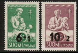 1947 Finland, Tub Overprint Complete Set **. - Unused Stamps