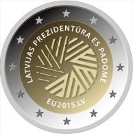 Lettland 2 Euro 2015 - EU - Aus Rolle - Latvia