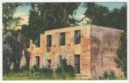 Ruins Of Old Barracks, Jekyll Island State Park, Near Brunswick And St. Simons Island, Ga. - Etats-Unis