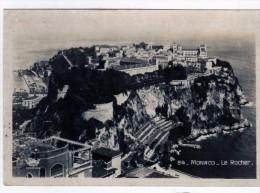 2593 Postal  MONACO   Vista  De La Ciudad La Rocher - Monte-Carlo