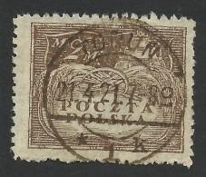 Poland, 2 M. 1919, Sc # 143, Mi # 111, Used, Torun - 1919-1939 Republic