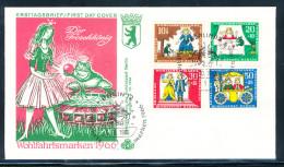 Berlin Michel Nr. 295 � 298 Wohlfahrt 1966 M�rchen der Gebr�der Grimm Frosch�nig auf illustrierten Ersttagsbrief