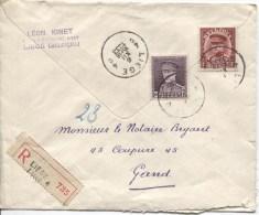 TP 319-317 Albert 1 Kepi S/L.recommandée C.Liège En 1933 V.Gand PR1967 - Belgium