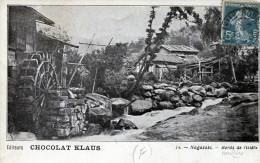 Nagasaki. Bords De Riviere. Pubblicitaria Chocolat Klaus - Giappone