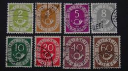 Germany - 1951 - Mi:123-25,127-8,130,133,135 O - Look Scan - Usati