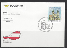 ÖSTERREICH - FDC Mi-Nr. 2867 - 350 Jahre Gemeinde Maria Taferl - FDC
