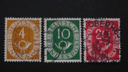 Germany - 1951 - Mi:124,128,130 O - Look Scan - Usati