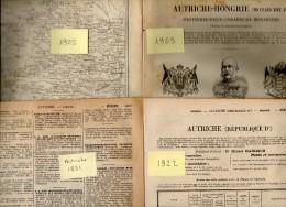 Annuaire - AUTRICHE - Année 1891 - 1905 - 1909 - 1922 - Quatre Années - édition Didot-Bottin - Annuaires Téléphoniques