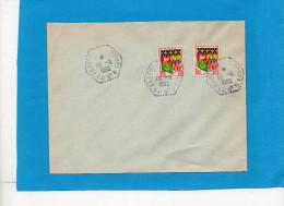 MARCOPHILIE Lettre Cad Perlé Hexagonal ABBEVILLE CP N° 6 -1962 - Marcophilie (Lettres)