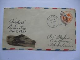 USA 1934 COVER AIRPORT DEDICATION WITH JACKSON KY MARK - Etats-Unis