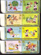 #  S-390  MINT NEVER HINGED SET OF STAMPS OF DISNEY  CHRISTMAS   ( LESOTHO   381-8 - Disney