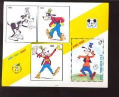 GAMBIA   1302 MINT NEVER HINGED SOUVENIR SHEET OF DISNEY CARTOONS   #  158-2  ( - Disney
