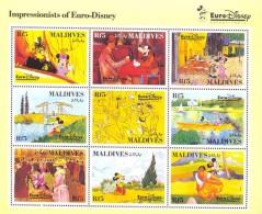 #  M-426*   MINT NEVER HINGED MINI SHEET OF DISNEY , EURO ,    (  MALDIVES   1827  1992 - Disney