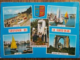 17 - ILE De RÉ - Souvenir De LA FLOTTE. (Multivues Avec Blason) - Ile De Ré