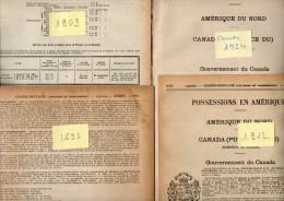 Annuaire - CANADA - Année 1893 - 1909 - 1912 - 1924 - Quatre Années - édition Didot-Bottin - Annuaires Téléphoniques