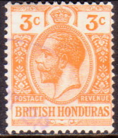British Honduras 1917 SG #103 3c VF Used  Wmk Multiple Crown CA - Honduras Britannico (...-1970)