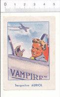 Image Chocolat Aiguebelle Maroc / Jacqueline Auriol / Aviation Avion Vampire  / IM  166/2 - Aiguebelle
