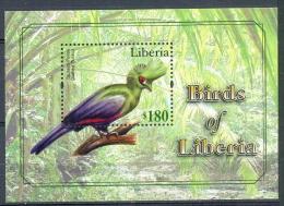 LIBERIA * BLOCK 1v 2010 * BIRDS OF LIBERIA * BIRD OISEAU * MNH - Liberia