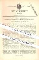 Original Patent - Vicente De Zafra Mesia In Madrid , Spanien , 1888 , Vorrichtung Für Dampfmaschinen !!! - Documentos Históricos