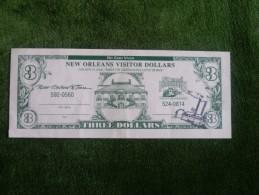 New Orleans Visitor Dollars - 3 Dollars - No cash Value