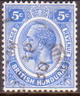 British Honduras 1922 SG #131 5c VF Used - British Honduras (...-1970)