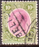 British Honduras 1922 SG #132 10c VF Used - Honduras Britannique (...-1970)