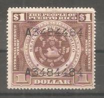 Sello Puerto Rico 1 Dolar. - Puerto Rico