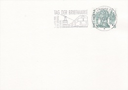 Railroad - Train: Switzerland, Card P/m Langnau Am Albis 1.12.1988 Train In Postmark (G52-61) - Trains
