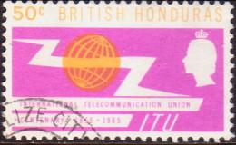 British Honduras 1965 SG #223 50c VF Used ITU Centenary - British Honduras (...-1970)