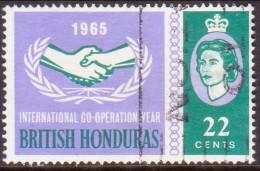 British Honduras 1965 SG #225 22c VF Used Int.Co-operatiion Year - British Honduras (...-1970)