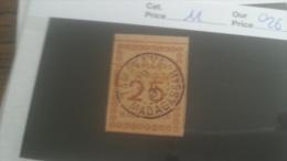 LOT 250979 TIMBRE DE COLONIE MADGASCAR OBLITERE N�11 VALEUR 26 EUROS