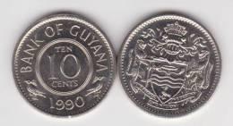 Guyana 10 Céntimos 1.990 Cu Ni KM#33 SC/UNC     T-DL-10.283 - Monedas