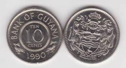 Guyana 10 Céntimos 1.990 Cu Ni KM#33 SC/UNC     T-DL-10.283 - Otros – Africa